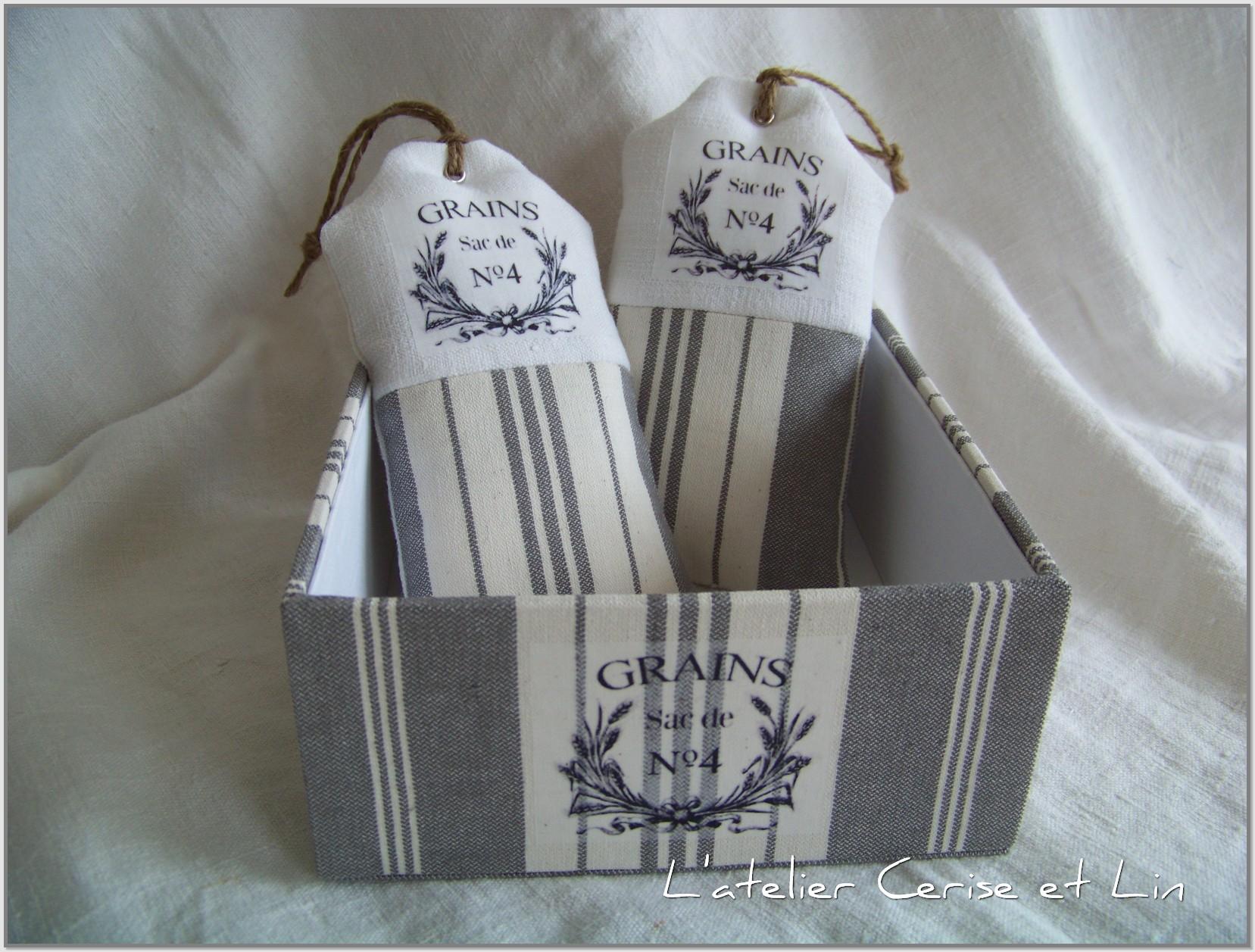 Coussins lavande & boîte 008