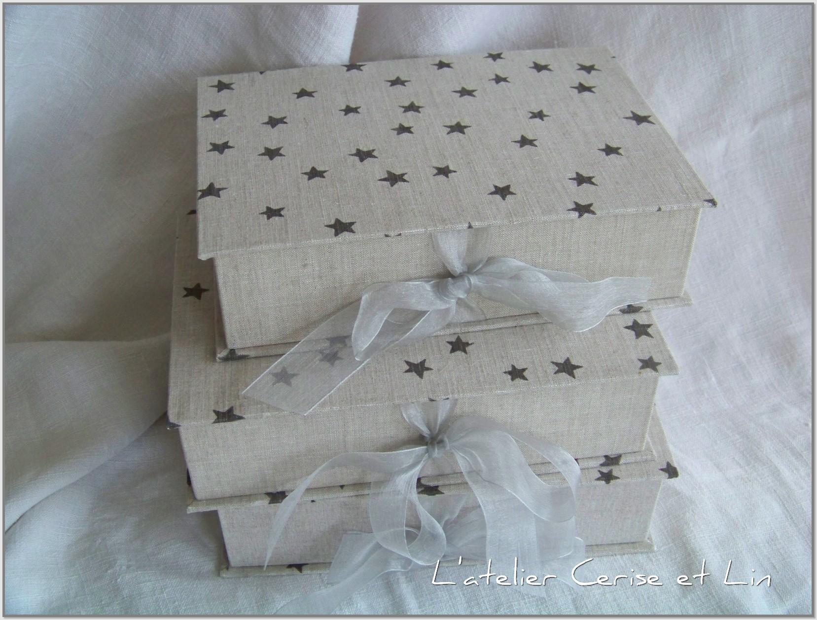 Boîtes étoilées en lin 011