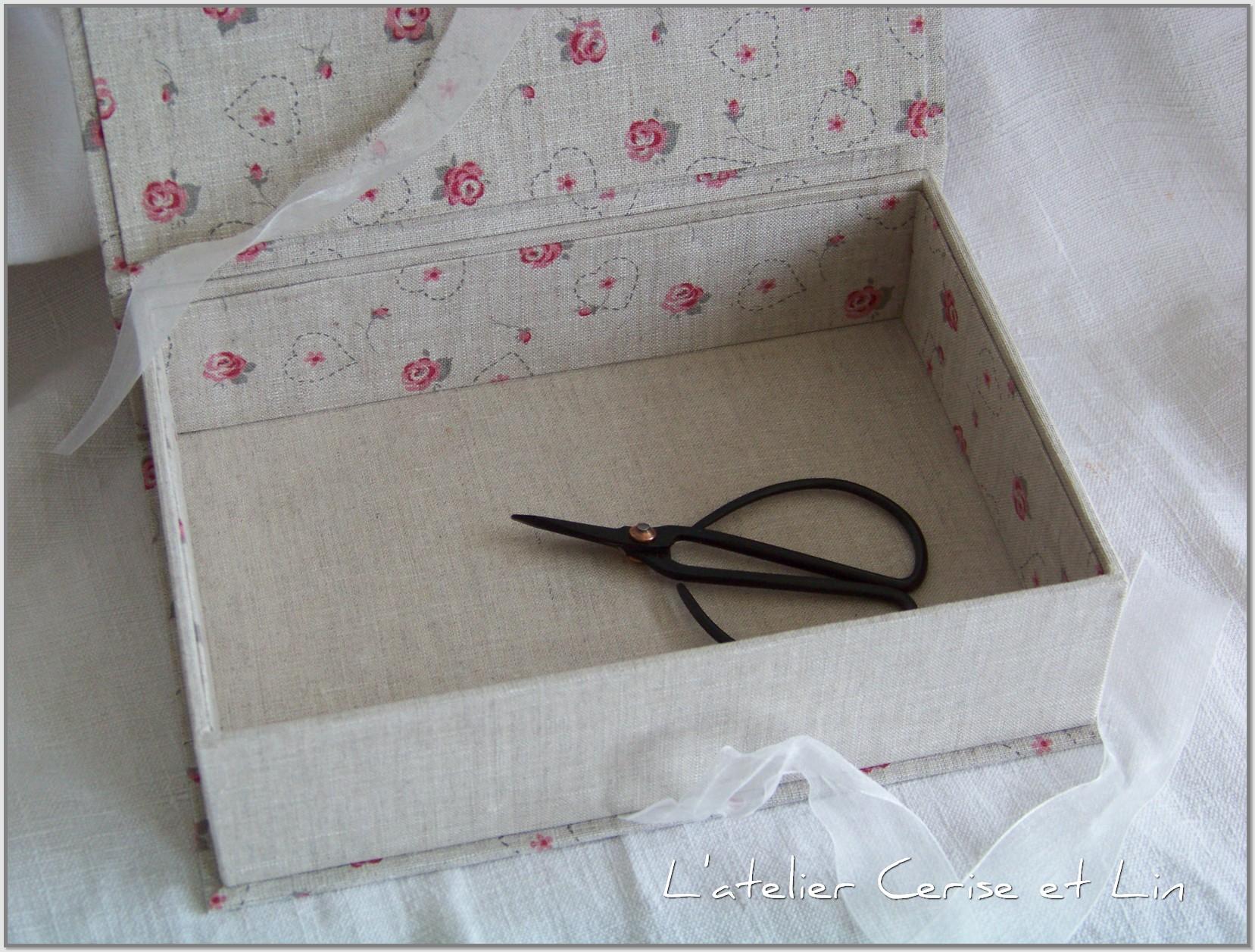 Boîtes lin aux roses - GM 011