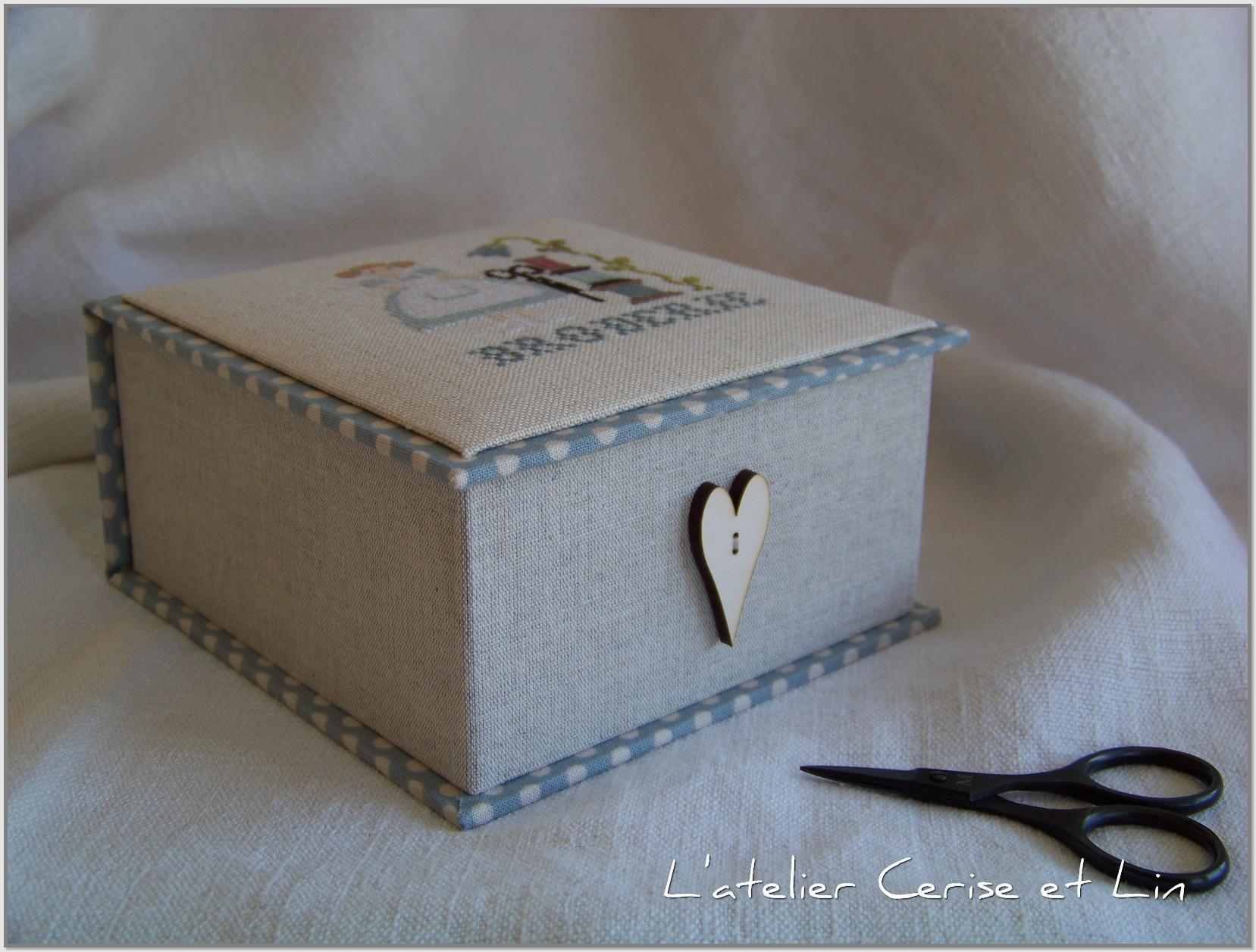 Boîte Mme Chantilly - Bergère Bricoleuse 010