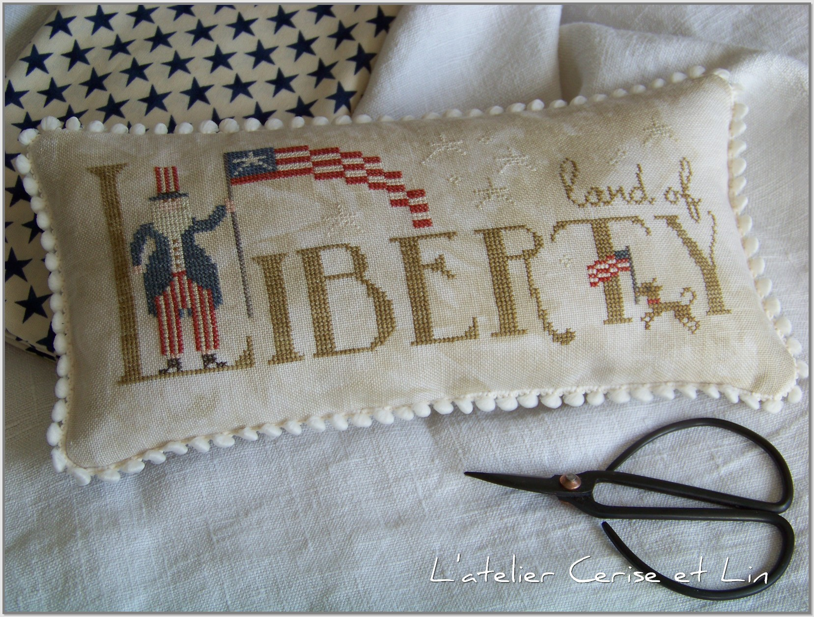 Coussin Land of Liberty 025